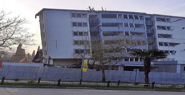 Bursa Fomara Emniyet Müdürlüğü Binası  Yıkıldı