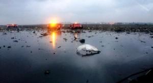 FlyDubai'ye ait yolcu uçağı düştü 62 kişi hayatını kaybetti