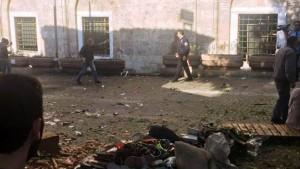 Bursa'da Ulu Cami Yanında Canlı Bomba Kendini Patlattı 1 Ölü 13 Yaralı