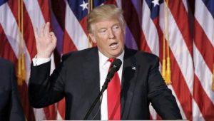ABD'nin 45'inci başkanı seçilen Donald Trump görevine yemin ederek başladı