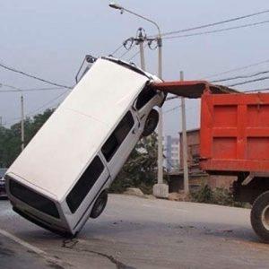 Dünya'dan ilginç kaza görüntüleri