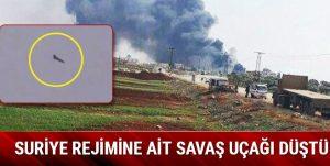 Suriye rejimine ait MİG 23 tipi savaş uçağı Hatay yakınlarına düştü