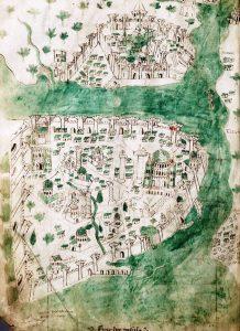 İstanbul'un 1422 Yılına Ait Çizilen En Eski Haritası