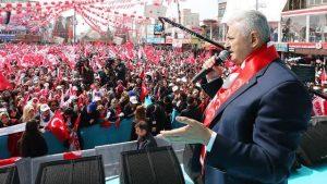 Başbakan Yıldırım ;Teröristleri Türkiye'yi değil, dünyayı dar edeceğiz