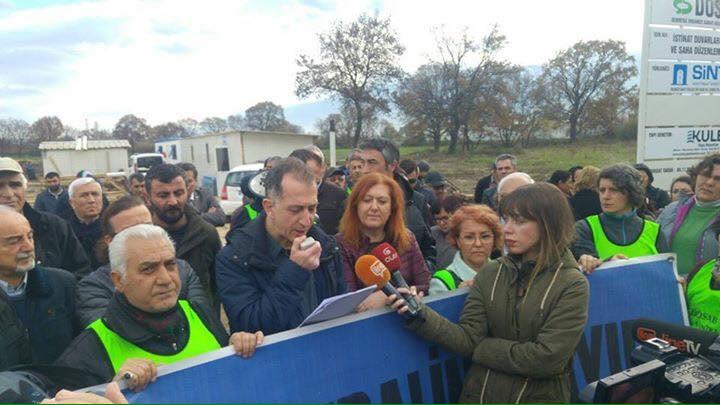 Bursa'da Yaşam Savunucuları , Ölüm Bacalarına Karşı Eylem Yaptı