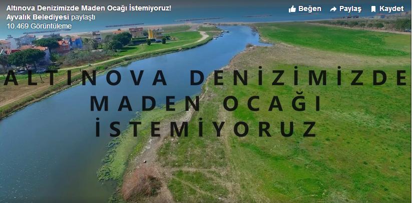 Görüntülü Haber-Altınova Deniz'inde Maden Ocağı İstemiyoruz!