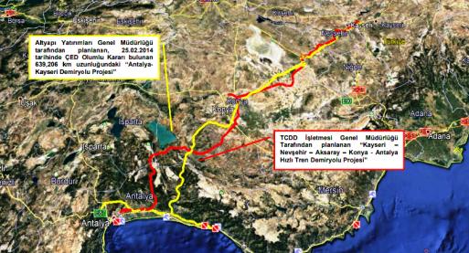 Antalya- Kayseri Hızlı Tren Hattı Sil Baştan