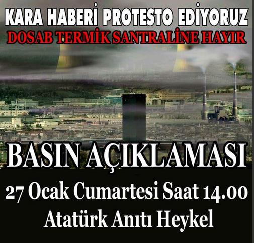 27 Ocak 2018  Atatürk Anıtı Heykel'de Basın Açıklaması