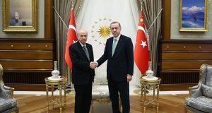 Cumhurbaşkanı Recep Tayyip Erdoğan ve MHP Genel Başkanı Devlet Bahçeli Görüşmesi