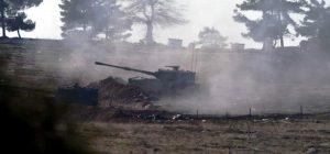 TSK Terör örgütü PYD/PKK'nın Afrin'deki noktalarına yoğun topçu atışı yaptı