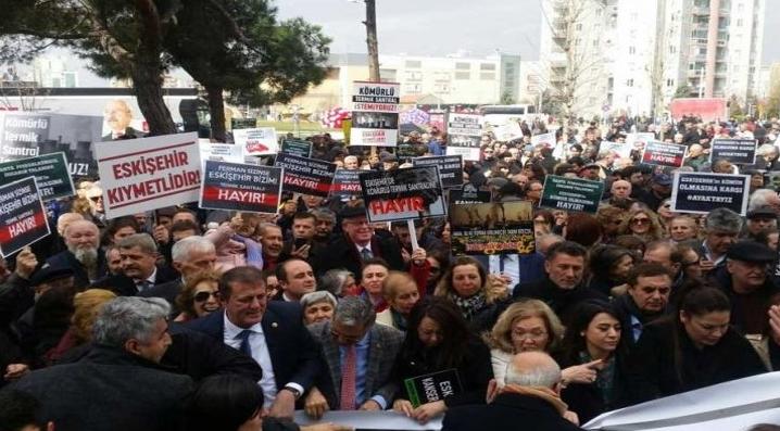 Görüntülü Haber-Eskişehir'de Termik Santral, Basın Açıklamasıyla Beraber Protesto Edildi!