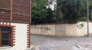 """Meral Akşener'in evinin karşısına """"Her An Her şey Olabilir"""" yazısını yazanlar gözaltına alındılar"""