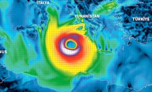 Zorba' olarak isimlendirilen Akdeniz fırtınası şimdiden harekete geçti