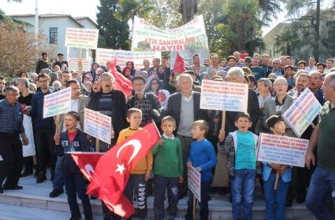 Bursa'da Bütün Köy Şehre İnip Eylem Yaptı