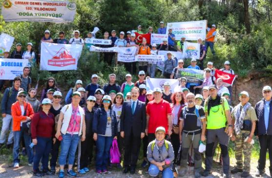 İzmir'de 180.Yıl Doğa Yürüyüşü Gerçekleştirildi