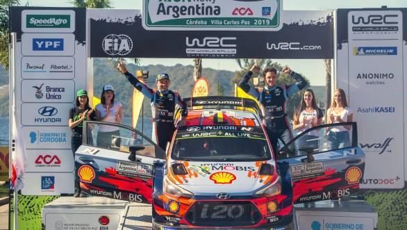 WRC 2019 ARJANTİN RALLİ'SİNİ HYUNDAİ THİERRY NEUVİLLE,   KAZANDI