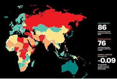 Küresel Barış Endeksi: İklim Değişikliği Yeni Çatışmaları Körüklüyor.