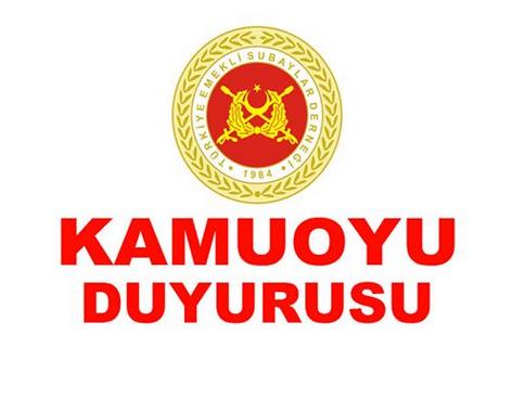 Türkiye Emekli Subaylar Derneği (TESUD ) Genel Başkanlığı Basın Duyurusu
