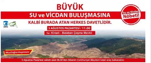 Altın madeni için 195 bin ağaca kıyanlar hakkında suç duyurusu!