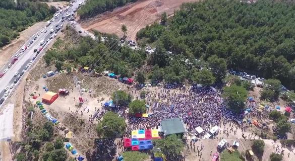On binler Kazdağları'nda altın madenine karşı yürüyüşe geçti