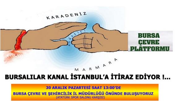 Bursa'dan Kanal İstanbul'a itiraz