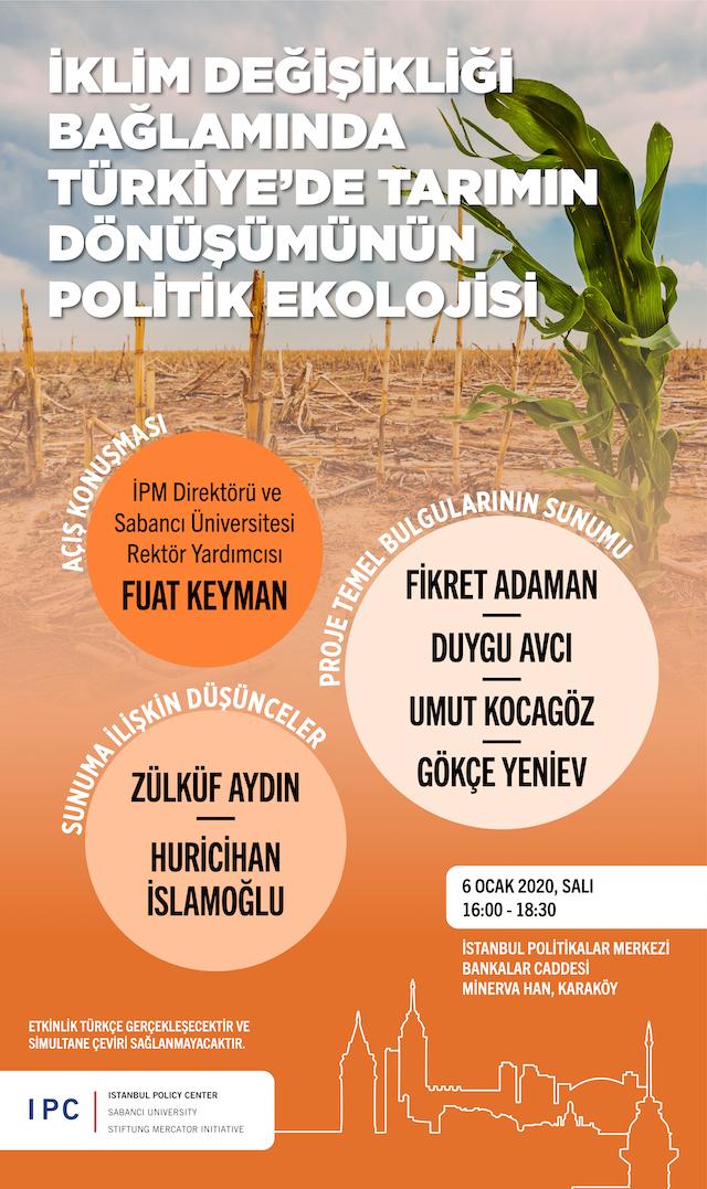 İklim Değişikliği Bağlamında Türkiye'de Tarımın Dönüşümünün Politik Ekolojisi