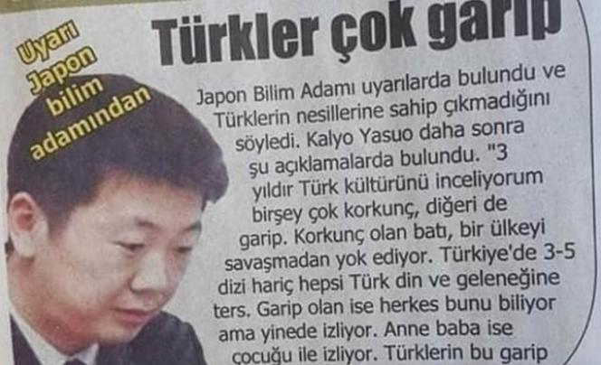 Japon bilim insanı: Batı, Türkiye'yi savaşmadan yok ediyor!