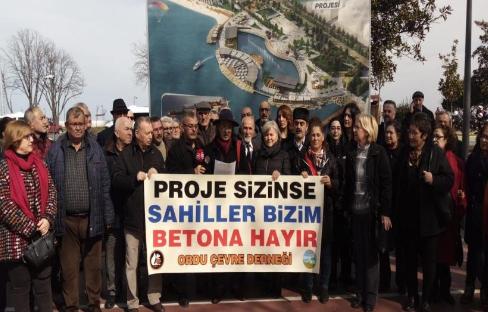 """Ordu Çevre Derneği: """"Deniz Yıldızı"""" projesi iptal edilsin"""
