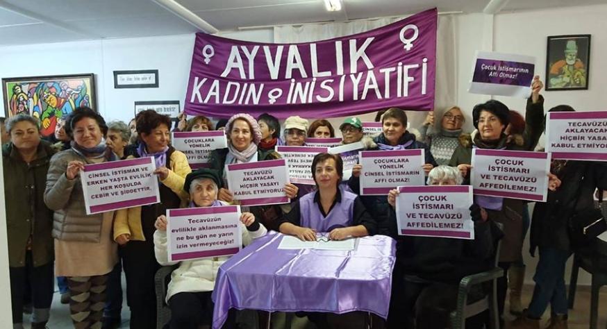 Ayvalık Kadın İnisiyatifinin imzacısı olduğu ; Nafaka Hakkı Kadın Platformunun basın açıklaması