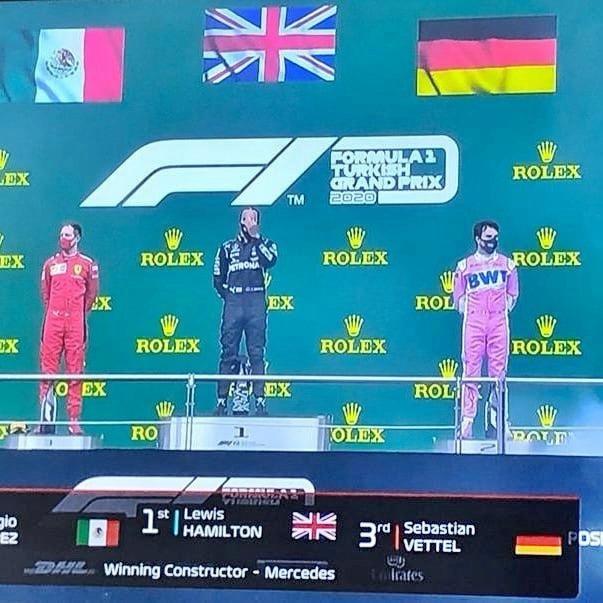Türkiye Grand Prix'sinde Lewis Hamilton yarış bitimine 3 tur kala kariyerinin 7. Şampiyonluğunu ilan etti.