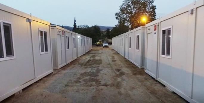 Sel Felaketinin Yaşandığı Sinop'taki Konteyner Evlere Enerji Verildi